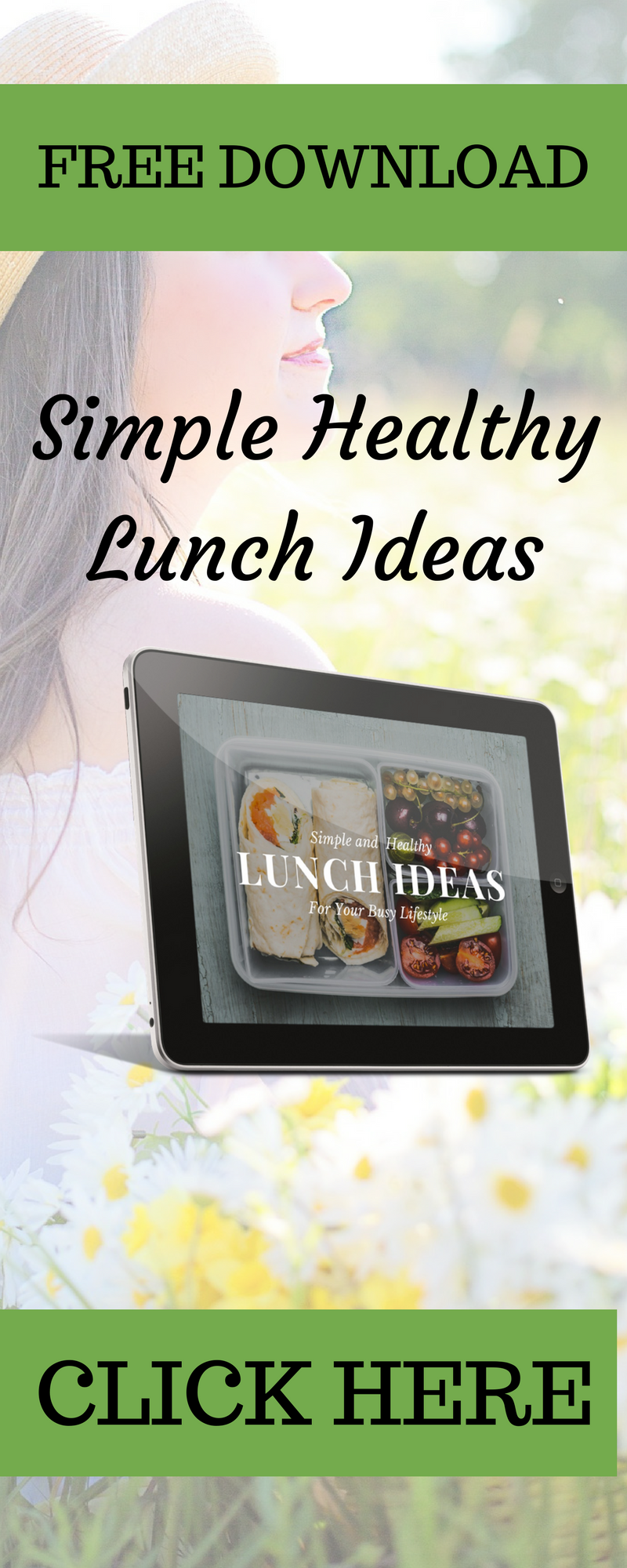 Simple Healthy Lunch Ideas - Request your free guide at http://www.balancedhealthandyou.com/opt-in-resources/simple-healthy-lunch-ideas/