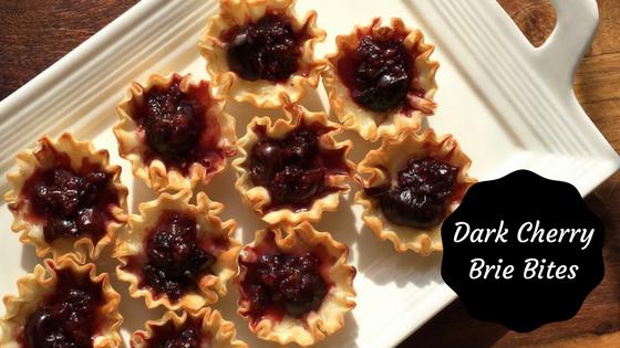 Dark Cherry Brie Bites