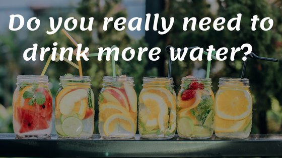 Do you really need to drink more water?