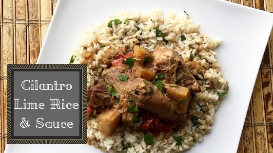 Cilantro Lime Rice & Sauce