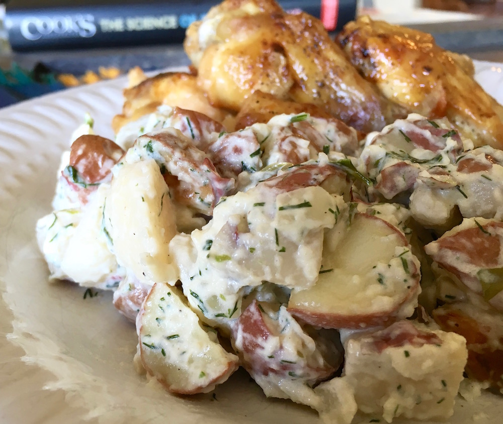 Baby Red, White and Blue Creamy Potato Salad with Fresh Herbs