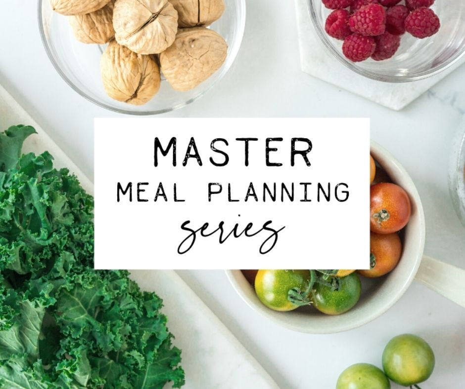 master meal planning confirmation