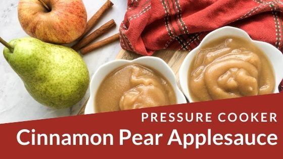 Cinnamon Pear Applesauce
