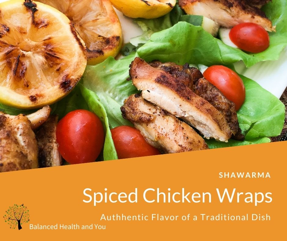 Spiced Chicken Wrap