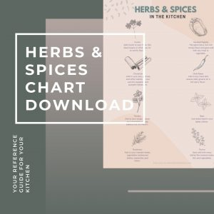 A Printable Herbs and Spices Chart for Your Pantry.