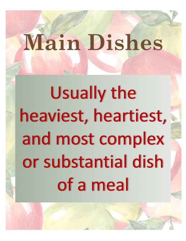 Apple Main Dishes