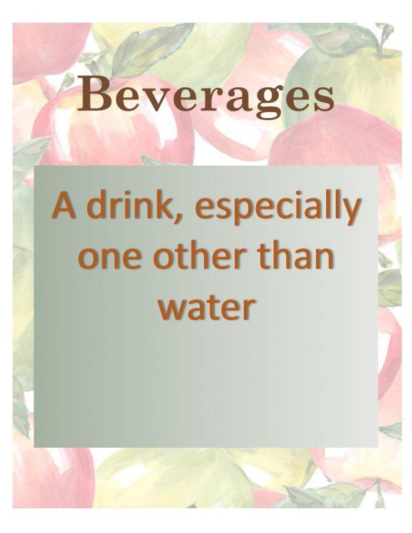 Apple Beverages