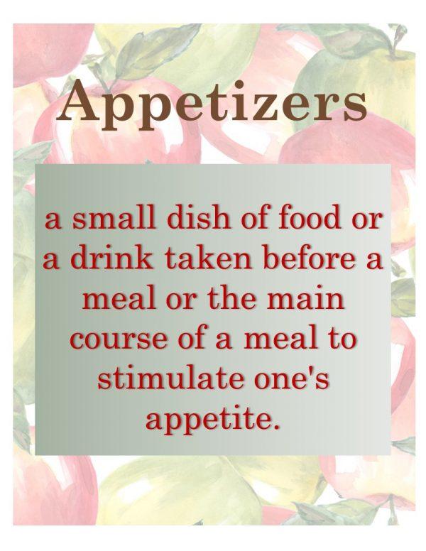Apple Appetizers
