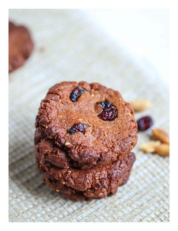 Peanut Cranberry Cookies