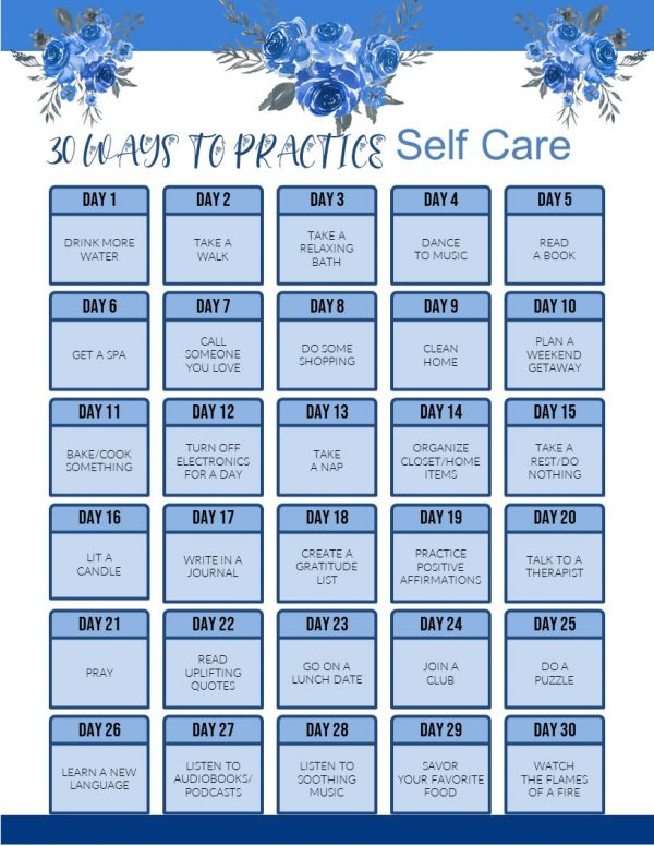30 Days of Self Care